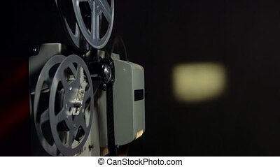 Screening movies on vintage film projector