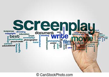 Screenplay word cloud