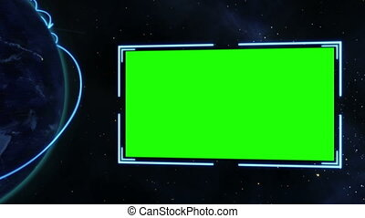 Screens with an Earth image courtes