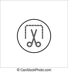 Screenshot line icon, mobile sign and scissors,