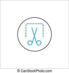 Screenshot solid icon, mobile sign and scissors,