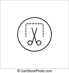 Screenshot solid icon, mobile sign and scissors, vector graphics, a fiilled pattern on a white background, eps 10.