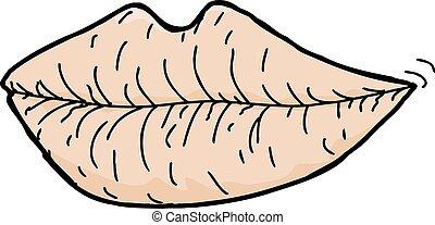 screpolato, labbra