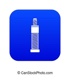 Screw and bolt icon digital blue