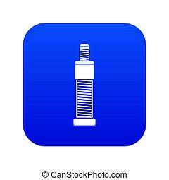 Screw and bolt icon digital blue