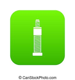 Screw and bolt icon digital green