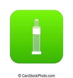 Screw and bolt icon digital green