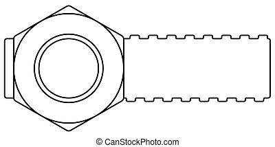Screw banner contour illustration - Illustration of the...