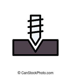 screw flat color icon