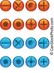 screw head set web icons.