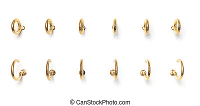 Screw Hooks from different perspectives on a white background