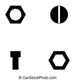 screw icon set