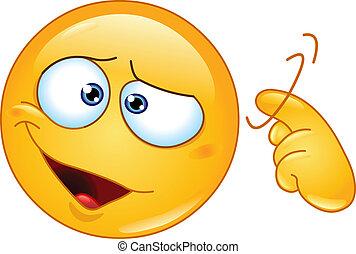 Screw loose emoticon - Emoticon showing a screw loose sign...
