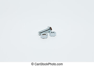 screw on a white background