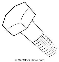 Screw symbol  - Structure of screw on simple sketch