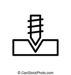 screw thin line icon