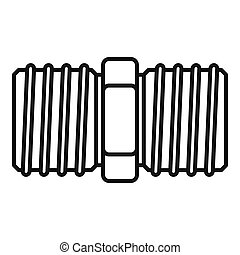 Screw-thread icon, outline style
