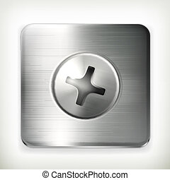 Screw, vector icon
