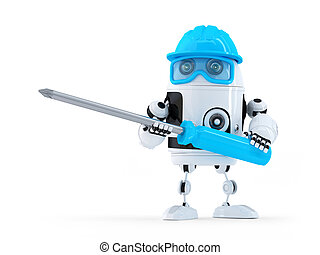 screwdriver., ロボット