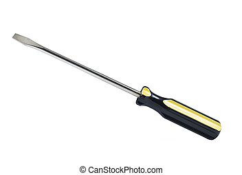 A screwdriver isolated over white.