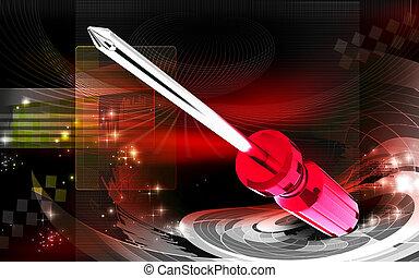 Screwdriver - Digital illustration of Screwdriver in colour...