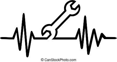Screwdriver heartbeat line