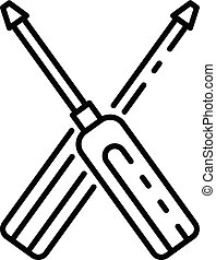 Screwdriver icon, outline style