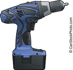 illustration of blue screwdriver on white background