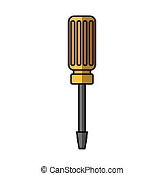 screwdriver tool isolated icon