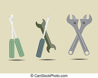Screwdriver Tools Kit Icon Vector Illustration