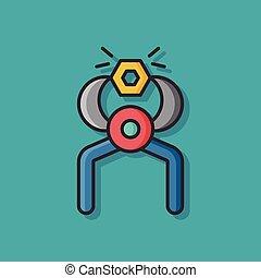 Screwdrivers tool vector icon