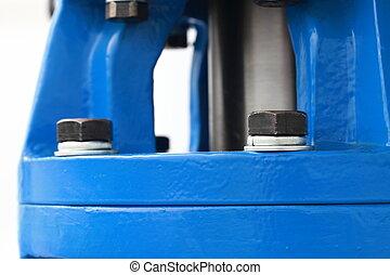 Screws detail of industrial machinery