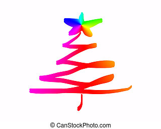Scribble Christmas Tree - scribble Christmas tree with a...