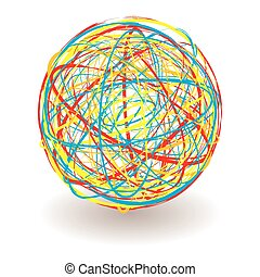 scribble color ball