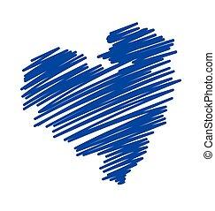 Scribble Heart Vector Illustration