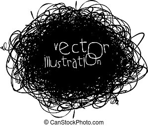 Scribble isolated on white background, vector illustration, ...