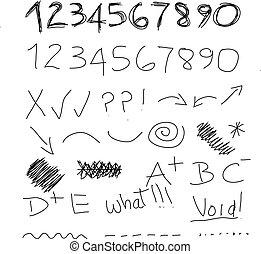 Scribble numbers
