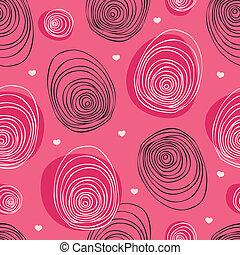Scribble pink seamless pattern | Vector wallpaper