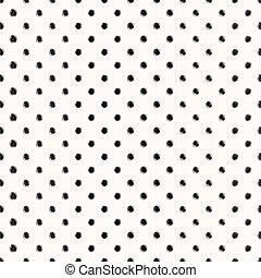 Scribble seamless dots pattern