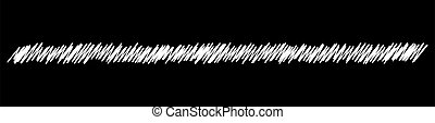 Scribble, sketch, sketchy doodle chalk, chalkboard horizontal line dividers. Wavy, waving, wave and billowy, zigzag, criss-cross lines ? stock vector illustration, clip-art graphics