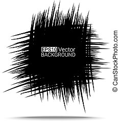 Simple hand drawn scribble square. Eps10 vector for your design