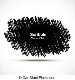 Scribble stain Hand drawn in pencil , vector logo design element