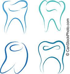 scribble teeth