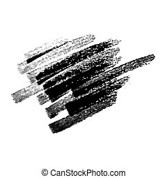 Scribble with a black marker. Doodle style scribble. Black hand drawn design elements on white background. Vector illustration