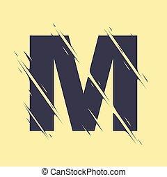 Scribbled letter M