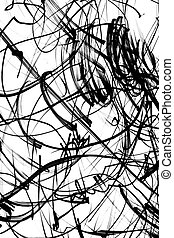 Scribbles - Black and white scribbles