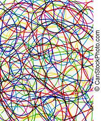scribbles., kleurrijke