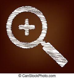 Scrible icon on the brown background
