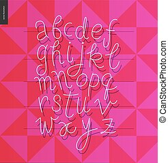 Script alphabet 1
