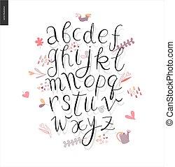 Script alphabet 3